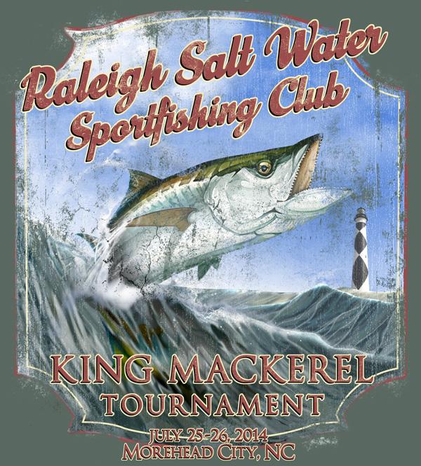 RSWSC King Mackerel Tournament T-Shirt Design