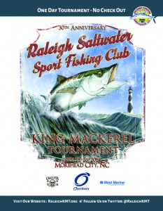 Raleigh Saltwater Sport Fishing Club 2014 King Mackerel Tournament Program Cover